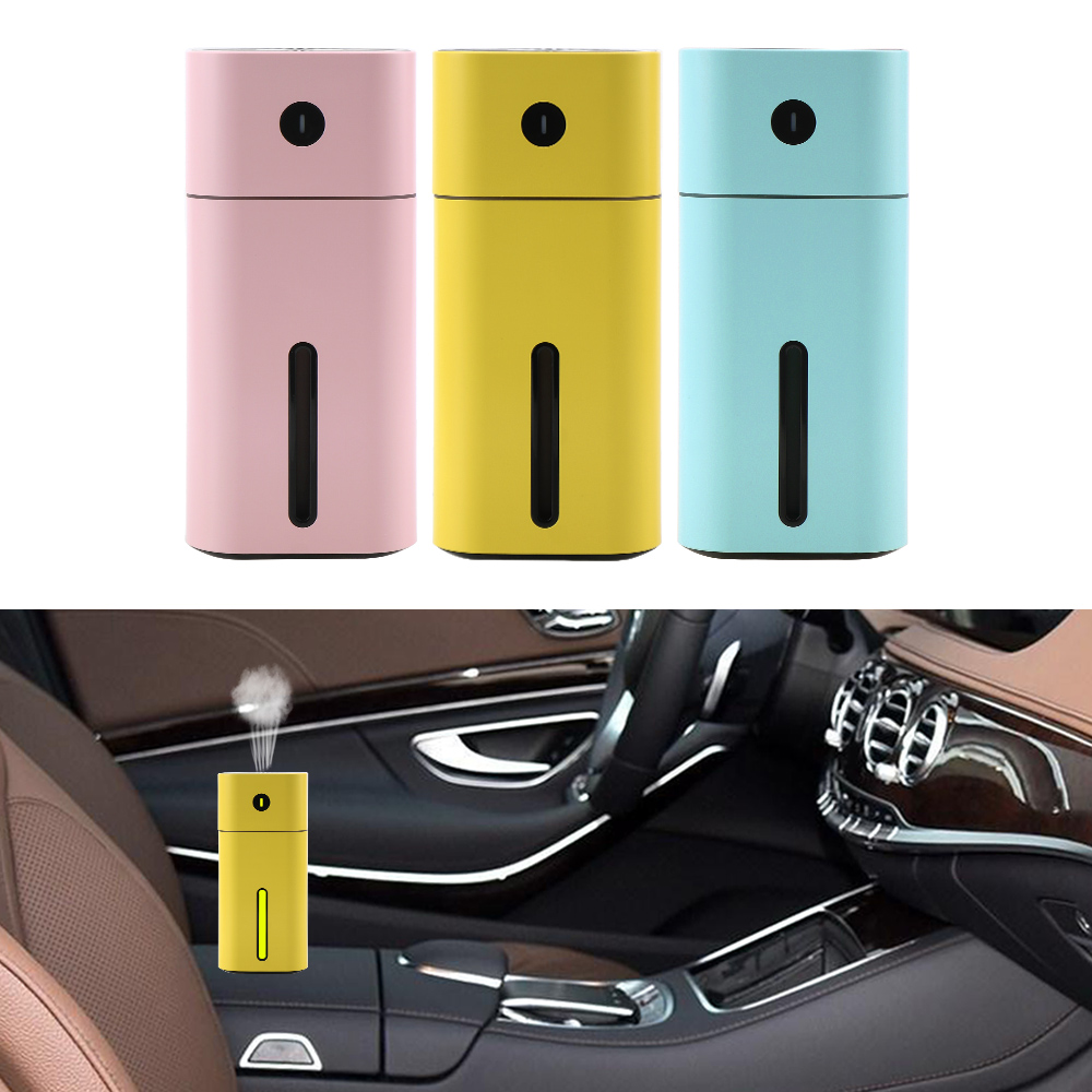 Car Perfume Aroma Essential Oil Diffuser Mini Ultrasonic Square Humidifier LED Night Light USB Car Air Purifier Auto Accessories