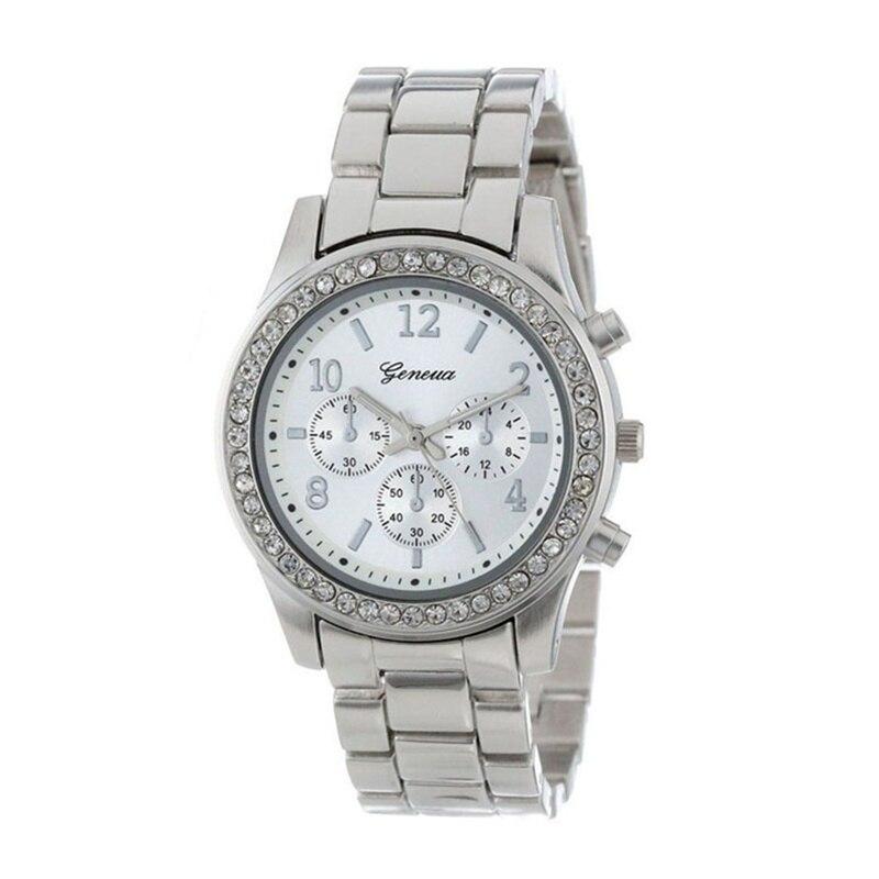 Новинка geneva, Классические роскошные женские часы, стразы, модные женские часы, женские часы, Reloj Mujer Relogio Feminino, женские часы