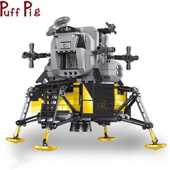 1112pcs Lunar Module Building Blocks Space Exploration Moon DIY Bricks Space Explorer Creative Technology  1
