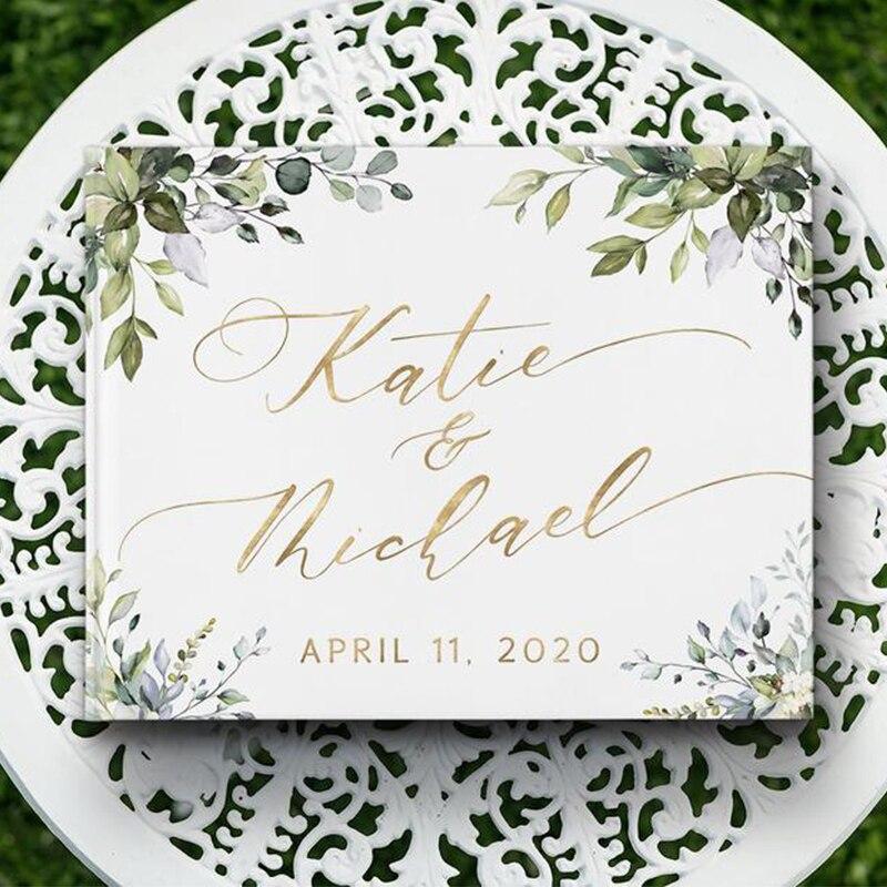 wedding : Alternatives Flower Wedding Guest Book Personalized White Guestbook Wedding Guestbook Album Custom Wood Look Printable Guestbook