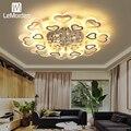 LeMorden хрустальная люстра для гостиной  спальни  Светодиодная потолочная лампа  домашний декор  затемненное освещение