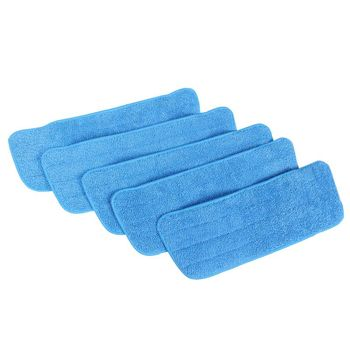Microfiber Mop Replacement Heads For Wet/Dry Mops Compatible With Bona Floor Care System (5 Pack)