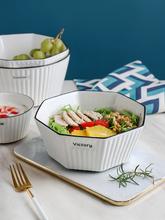 Duża miska kuchenna Nordic ceramiczne Ramen mieszanie makaron salaterka serwująca japoński makaron Instant stołowe Tazones AE50WA tanie tanio GLOBAL WAREHOUSE CN (pochodzenie) Na szybami Pojedyncze Zaopatrzony Porcelany Stałe 1l