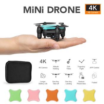 2020 New KY902S Smart Mini Drone With HD 4K 720P Camera Voice control Quadrocopter Toys RC Foldable Quadcopter Dron aircraft image