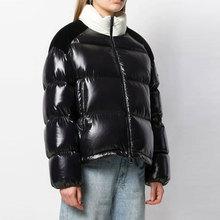 2019 Winter Women Jacket Downcoat Long Sleeve High Quality Luxury Brand