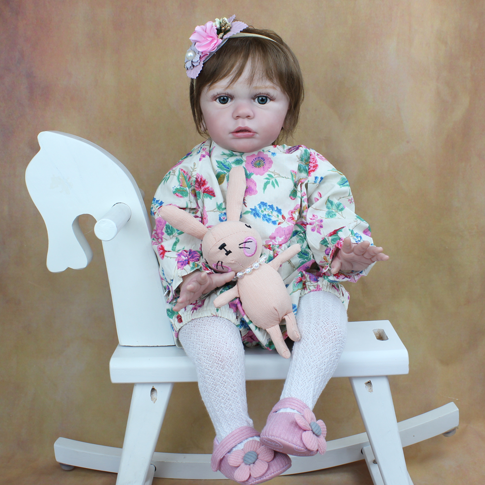 Мягкая силиконовая кукла Реборн, 60 см, кукла девочка, готовая ткань Тайра, игрушка для тела, Реалистичная, 24 дюйма, принцесса, малыш, 3D рисунок, оттенок кожи|Куклы|   | АлиЭкспресс