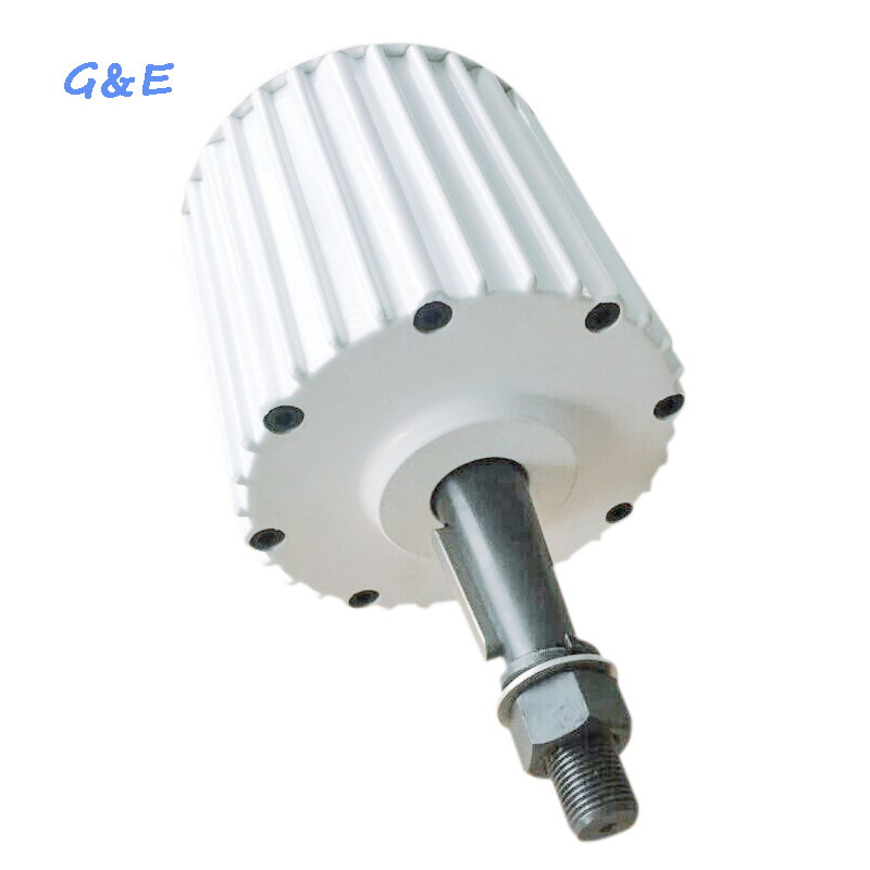 Magnet Generator Alternator 3000W 400RPM Low RPM 3KW Permanent Magnet Generator With DC Rectifier Mounting Base For Option