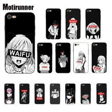 Sugoi Senpai Anime Waifu Custom Patroon Tpu Soft Phone Case Voor Iphone 8 7 6 6S X Xs Max 5 5S Se Xr 10 11 Pro Max(China)