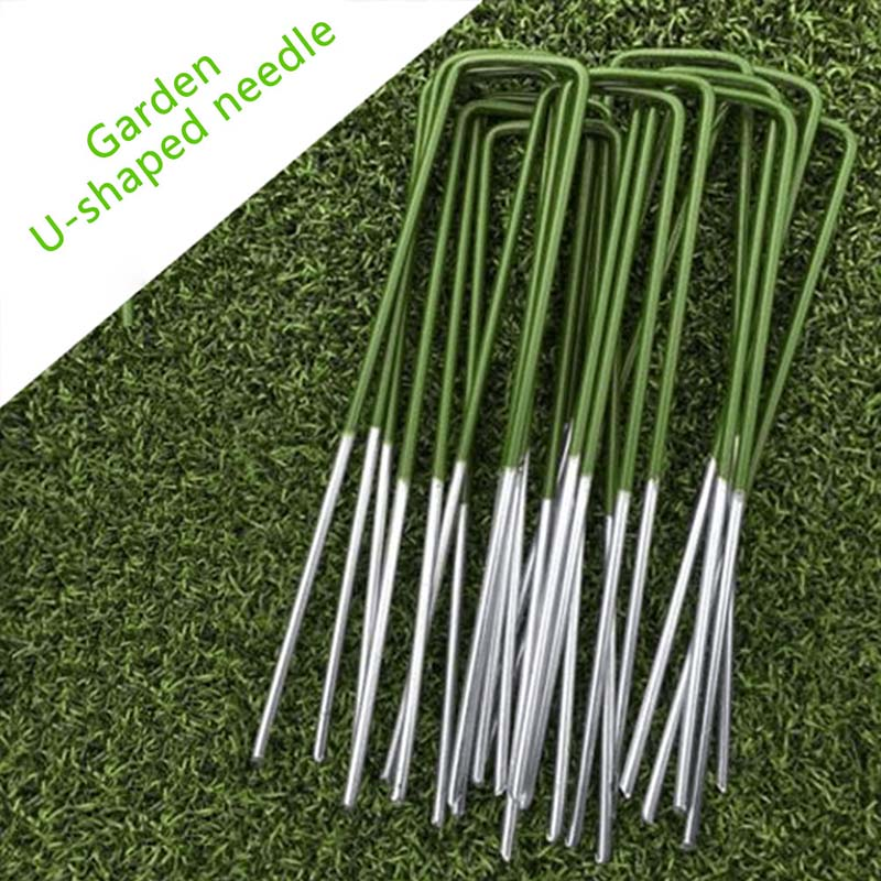 Pegs Staples Weed Household Plant Fence Durable Fences Artificial Grass Turf U Pins Metal Galvanised Home Garden Creative Tool