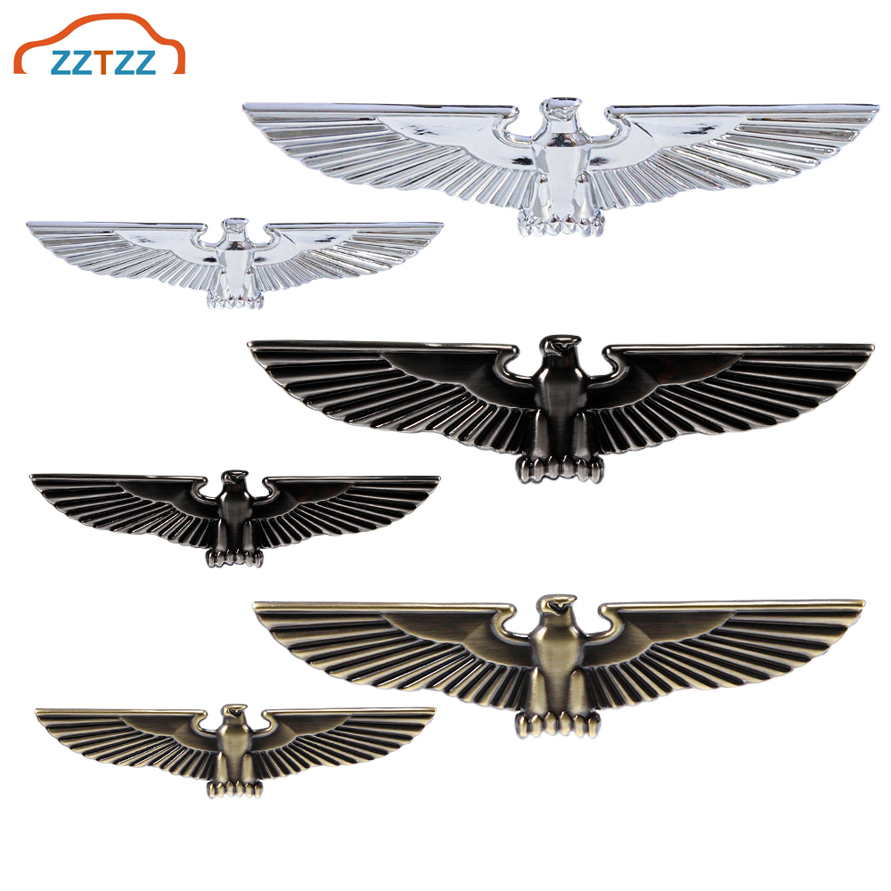 3D Metal Badge Eagle Wings Car Emblem Sticker Decal for Universal Cars Moto Bike Car Styling Decorative Accessories