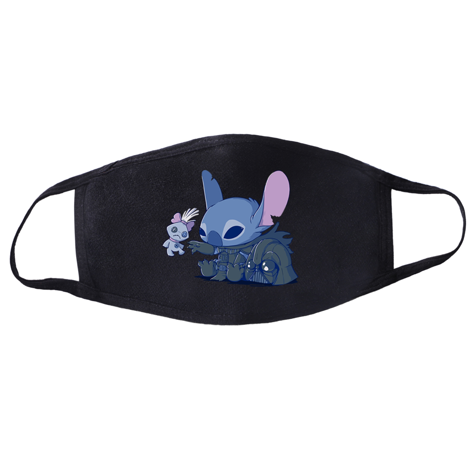 Funny Japanese Anime Washable Face Mask Masque Kawaii Lilo & Stitch Print Mouth Masks Mascarillas Dust-proof Reusable Mascherine