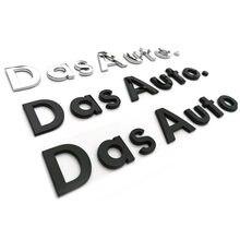Capital & mais baixo caso letras emblema caligrafia estilo do carro tronco logotipo adesivo para volkswagen das automóvel. Golf cc magotan sagitar