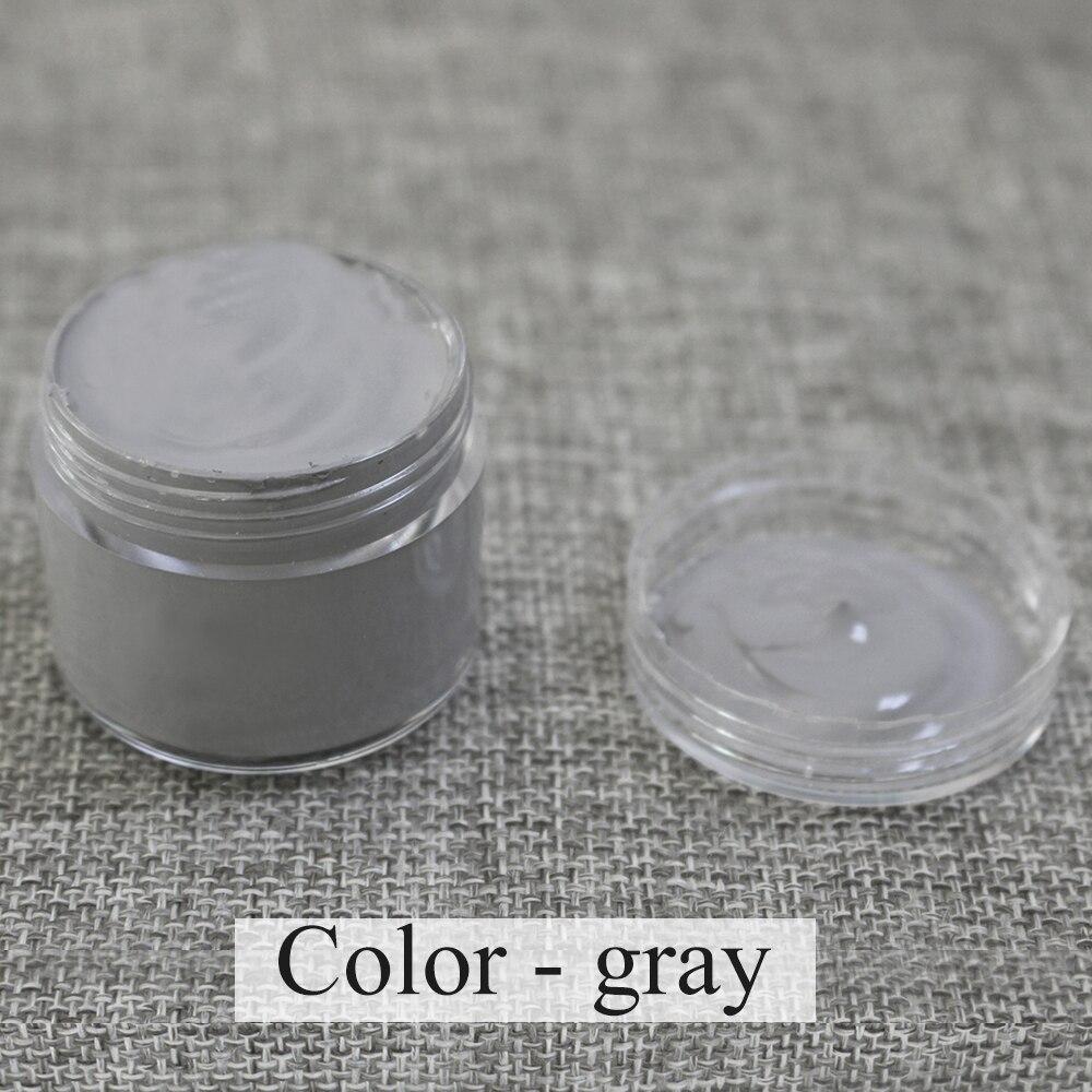 Pintura de couro cor cinza pintura de couro pintura de couro creme de sapato coloração no saco sofá assento de carro zero 30ml