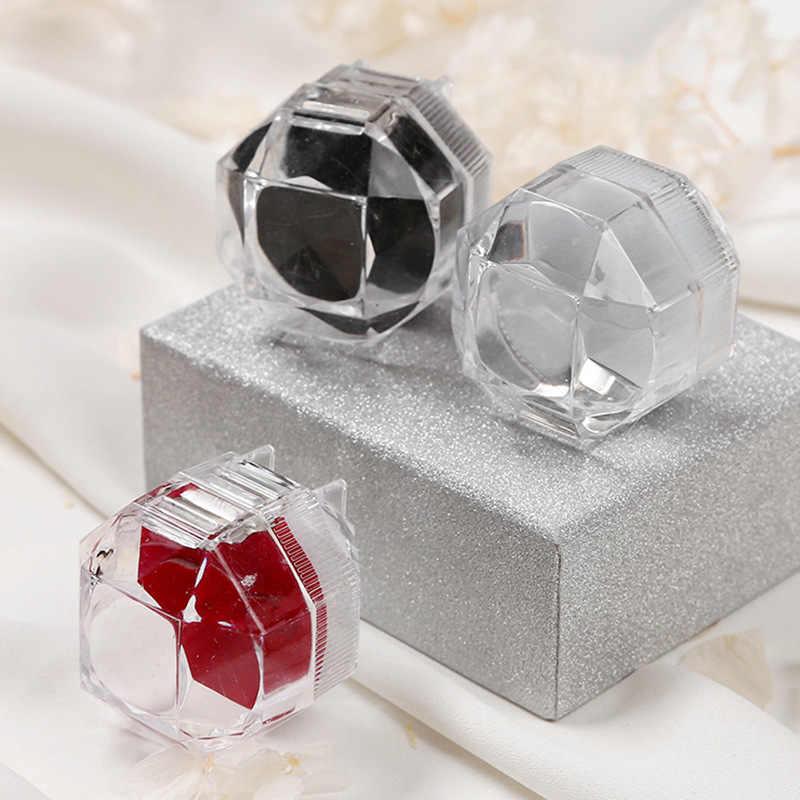 1PC portátil elegante acrílico transparente anillos pendientes caja de exhibición de joyería de boda de cristal cajas de exhibición 3,8*3,8 cm