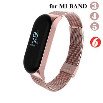 Mi band 6 3 4 5 Strap Metal for Xiaomi Mi Band 5 4 3 Bracelet Screwless Xiaomi Mi Band 4 Bracelet Correa Xiomi MiBand Wrist Band 1
