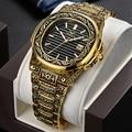 ONOLA Мужские кварцевые часы  2019  уникальные  подарочные  водонепроницаемые  модные  повседневные  винтажные  золотые  классические  роскошные ...