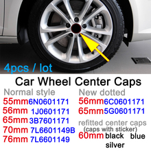 Hubcap-Cover-Cap Center 3B7601171 55mm Car-Wheel 56mm 60mm 70mm 65mm 4pcs 76mm