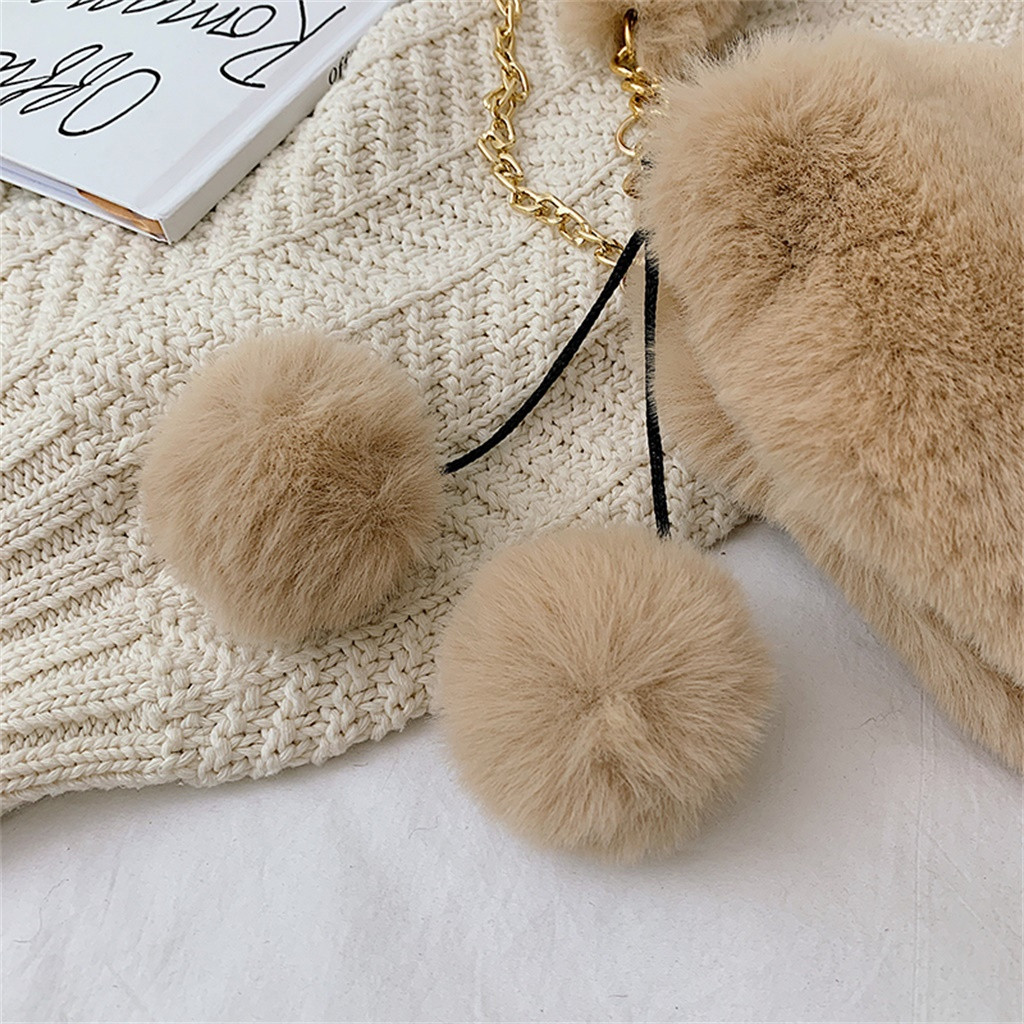 H892bbde0d1e74987a3b3b33de0dd256dW - Fashion Women Handbags | Cute Fluffy Fur
