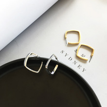 New Fashion Simply Earrings Jewelry Goden Plated Medium Geometric Stud For Girl Women Gift