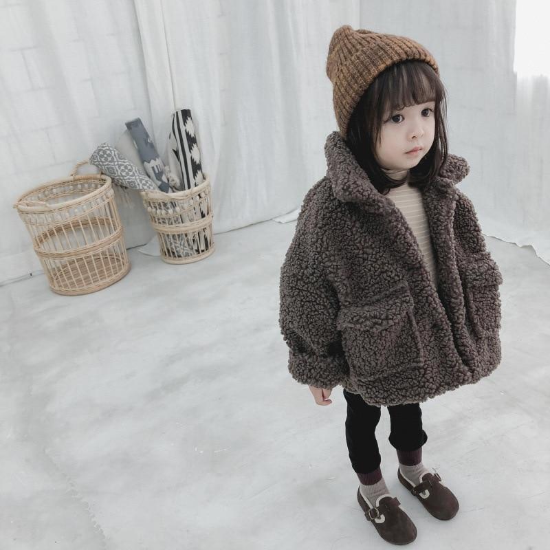 criancas meninos e meninas de pelucia velo engrossado casaco criancas roupas inverno 2019 inverno da crianca