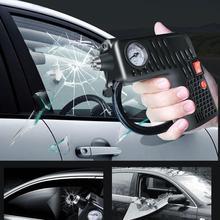Voiture Portable compresseur d'air électrique Auto pneu gonfleur pompe 12V LED éclairage multi-usages buse pression voiture accessoires