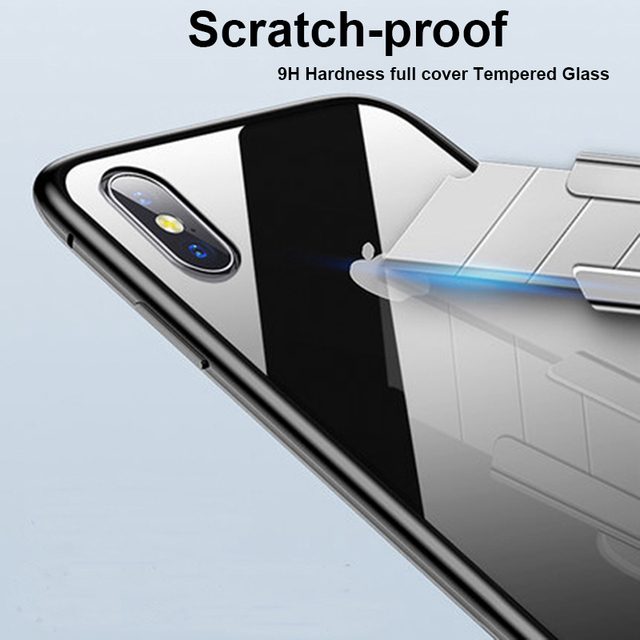 Magnetic Adsorption Metal Case For iPhone SE 2020 11 Pro Max Tempered Glass Back Case For iPhone XS Max XR X 8 7 6S 6 Plus Cover 4