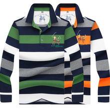High Quality color 3D Embroidery Polo Shirt Casual Shirts  mens Long sleeve polo shirt 8808