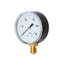 0-250mbar Pressure Gauge for Air Oil Water Hydraulic Pressure Gauge 1/4BSPT 1pc tool Accessories