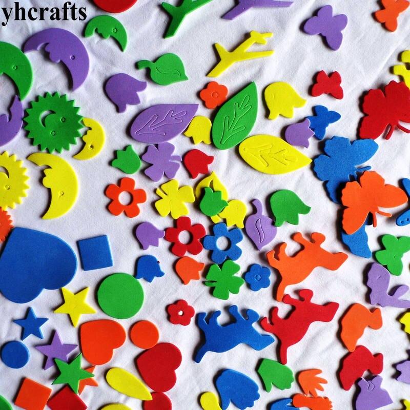 1 пакетов/лот, снежинка, рождественские наклейки из пены для раннего обучения, Обучающие поделки, diy игрушки, детская комната, орнамент, цветная обучающая креативная OEM - Цвет: 110PCS mix shape