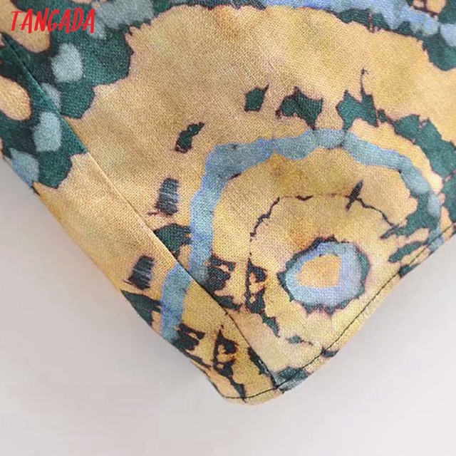Tangada 2021 Fashion Female Tie Dyed Print Long Tank Dresses for Women 2021 Female Casual Beach Dress 3H540 5