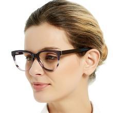 OCCI CHIARI di Alta Qualità di Moda Gli Occhiali di Marca di Occhiali di Design Occhiali Fatti A Mano Cornice Donne Acetato avant gard Regalo MELATTI