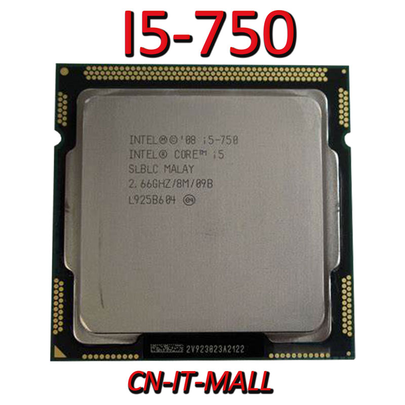 <font><b>Intel</b></font> Core <font><b>I5</b></font>-<font><b>750</b></font> CPU 2.66G 8M 4 Core 4 Thread LGA1156 Processor image