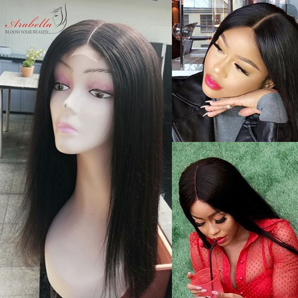 Straight Hair 2X6 Lace Closure Wig 180% Density Pre Plucked With Baby Hair Natural Hair Line Arabella  Hair Wigs 3