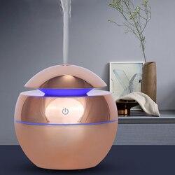 USB Aroma dyfuzor olejków eterycznych ultradźwiękowy nawilżacz do domu mini nawilżacz ekspres rozpylacz zapachów 130ML 7 kolor LED Light Office w Nawilżacze powietrza od AGD na