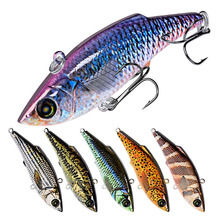 1pcs winter vib bait diving fishing lure 7.9cm/10.5g with lead inside a hard wobbler swivel ice sea tackle