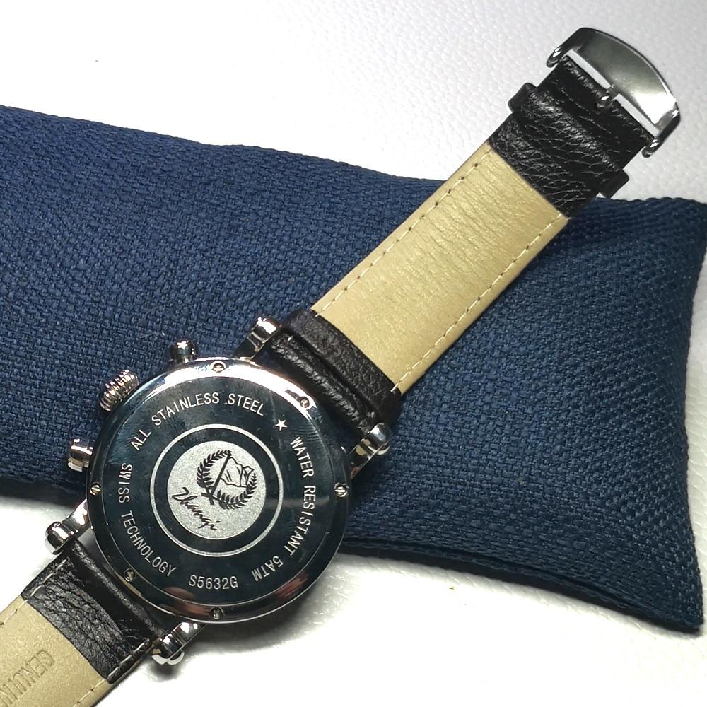 Marca de Luxo Militares à Prova Inoxidável Multifuncional Relógios Dwaterproof Água Moda Quartzo Data Masculino Multifunções Esporte Relógio Pulso Aço