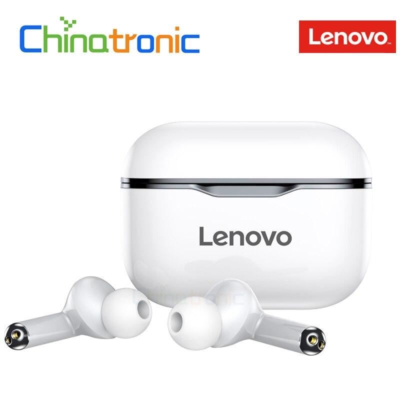 Original lenovo lp1 tws fone de ouvido sem fio duplo estéreo redução ruído baixo bluetooth 5.0 controle toque 300mah longa espera