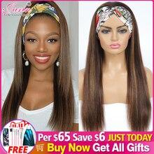 #4/27 mettre en évidence couleur cheveux humains perruques bandeau cheveux humains perruques Ombre Remy perruque pour les femmes noires Jarin cheveux