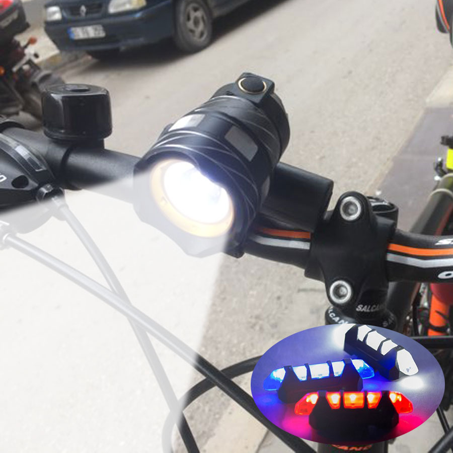 USB Rechargeable Bicycle Light Cycling Riding Flashlight Waterproof Bike Headlight MTB Bicycle Front Lamp Bike Accessories