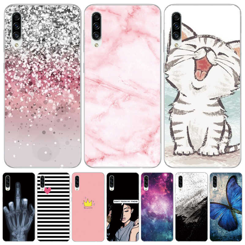 Untuk Samsung Galaxy A30S Case Silicon Transparan Penutup Belakang Ponsel Case untuk Samsung A30S A307 A307F SM-A307F Soft Case 6.4 kucing