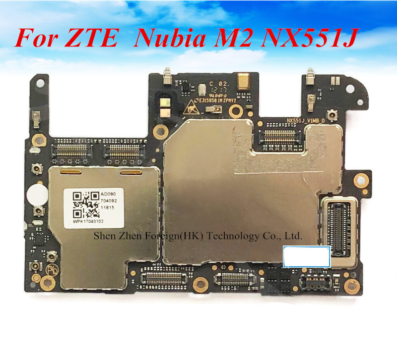 Orijinal ZTE Nubia M2 NX551J 4G LTE iyi çalışıyor anakart anakart 4GB + 64GB ücretsiz kargo