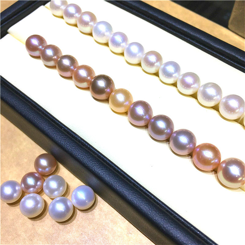 Natural freshwater pearls High quality AAAA grade semi-hole round no beads Beads made DIY necklace Earrings Jewelry accessories