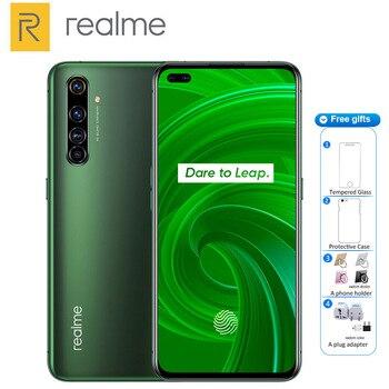 Перейти на Алиэкспресс и купить Новинка, оригинальный смартфон Realme X50 Pro, Φ 8 ГБ 128 ГБ, Snapdragon 865, 4200 мАч, 65 Вт, быстрая зарядка, четыре камеры 64 мп, NFC