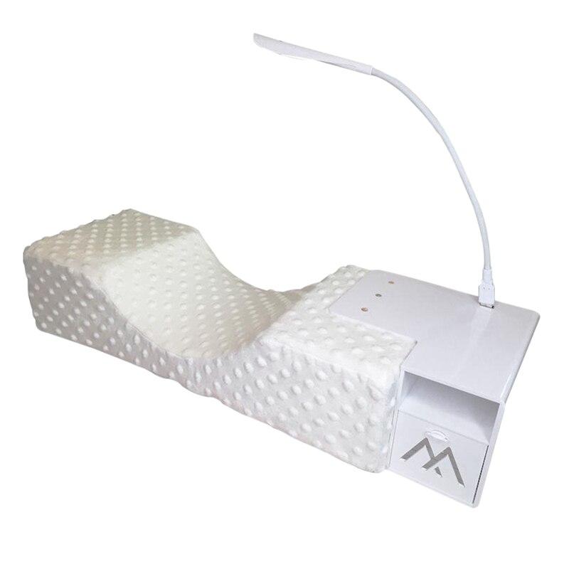 Extension de cils oreiller flanelle Salon cils oreiller outils de maquillage greffe de cils oreiller ergonomique soutien Extension courbe elle