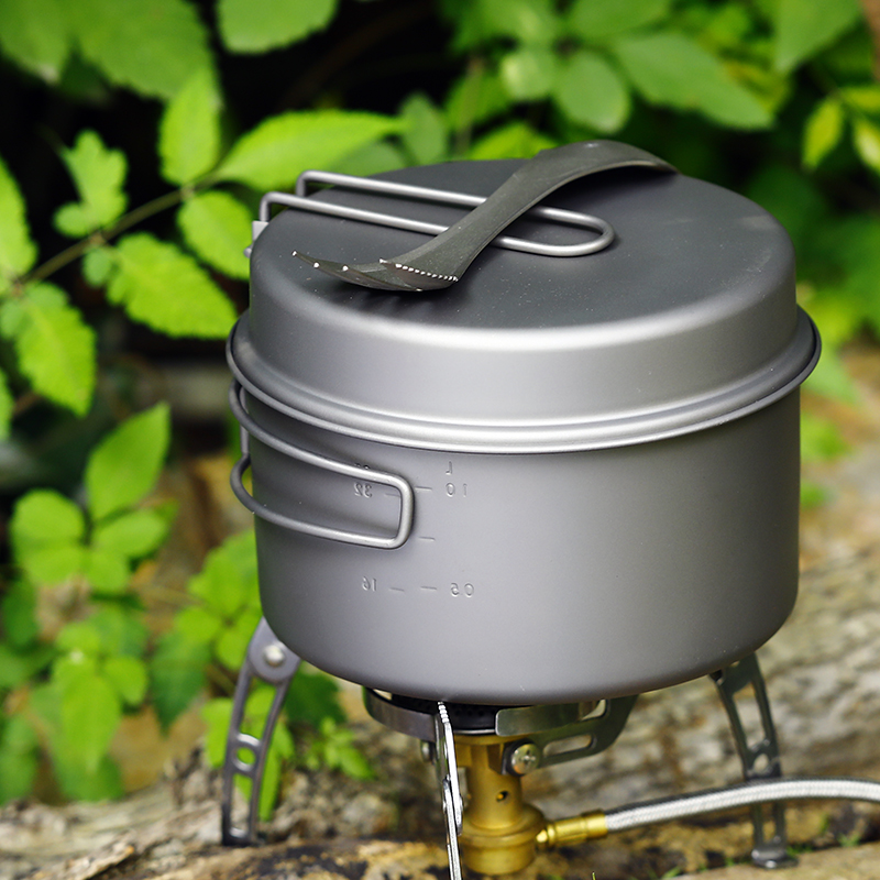 TOAKS 1350ml pot with 160ml frying panOutdoor Camping Titanium CookwareUltralight Portable for Backpacking picnic