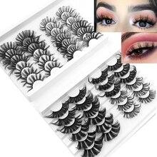 Nouveau 24 paires de cils de vison 25mm Volume moelleux moelleux 3D vison cils cruauté gratuit dramatique faux cils maquillage de cils