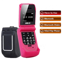 "Mini Flip Mobile Phone LONG-CZ J9 0.66"" Smallest Cell Phone Wirel"
