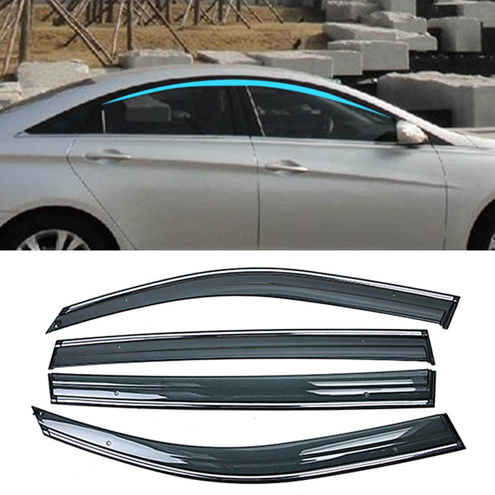 For HYUNDAI Sonata I45 YF 2009 2010 2011 2012 2013 2014 2015 Car Window Sun Rain Shade Visors Shield Shelter Protector Cover|Awnings & Shelters| |  - title=
