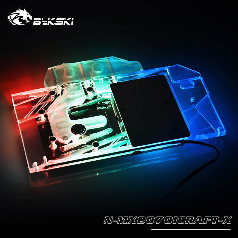 Bykski Water Block Use For MAXSUN RTX 2060/2070 Super ICraft 8G /Full Cover Copper Radiator Block / 3PIN 5V A-RGB / 4PIN 12V RGB