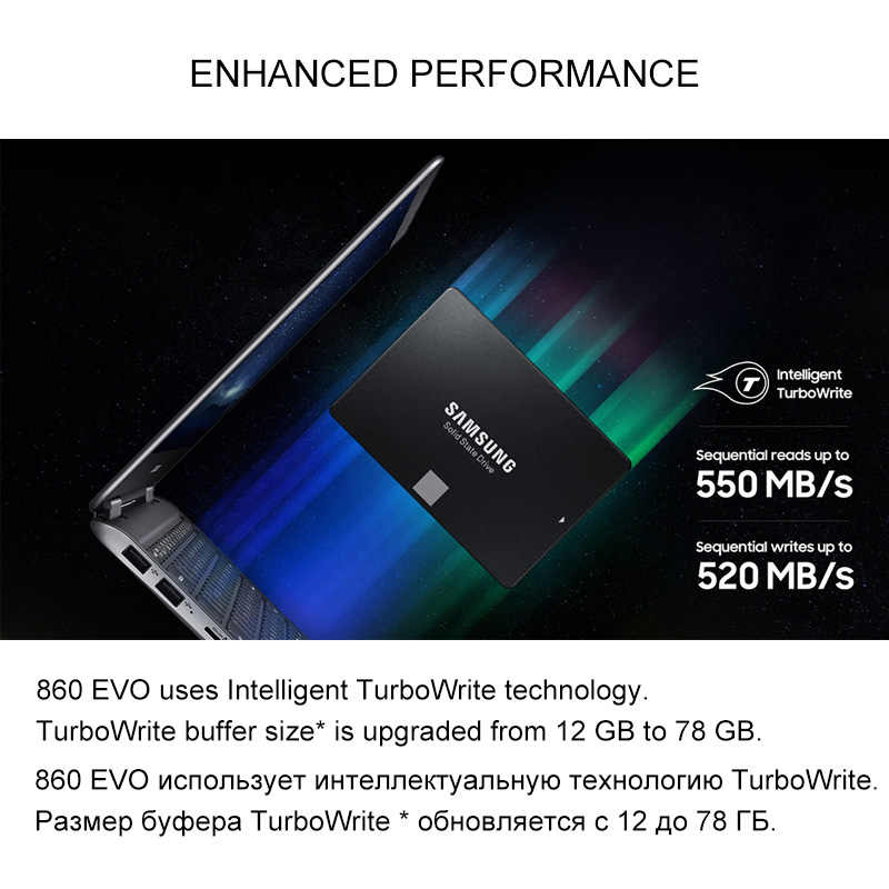 Samsung Interne Solid State Drive 860 EVO SSD 250GB 500GB 1TB SATA 3 2,5 zoll HDD Fest festplatte HD SATA III SSD für Laptop Computer